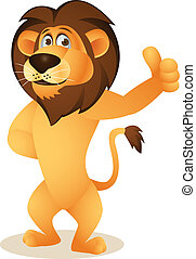 cartoon, morsom, løve