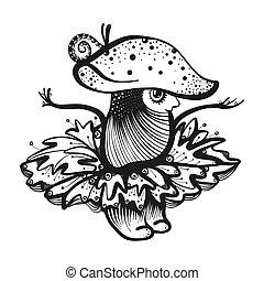 cartoon, svamp