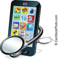 celle telefon, begreb, sundhed check