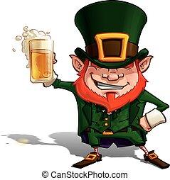 'cheers', patrick, st..