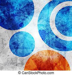 cirkler, grafik, mønster, abstrakt formgiv, baggrund, high-tech