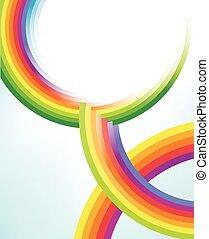 cirkler, regnbue, abstrakt, teksturer, farverig