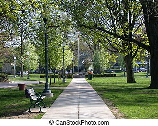 city parker, pathway