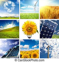 collage, nye, energi