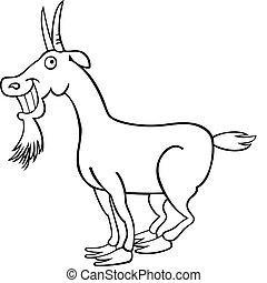 coloring bog, goat