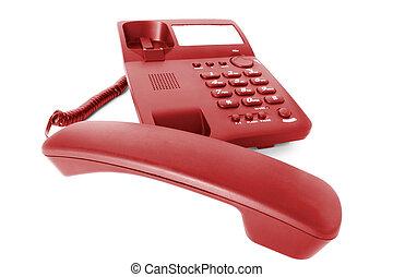 communications., telefon, kontor