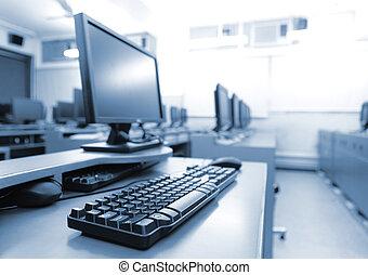 computere, arbejdspladsen, rum