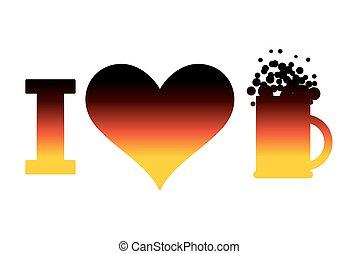 constitutions, flag., oktoberfest., logo, tegn, tyskland, øl, tysk, national ferie