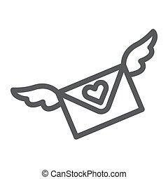 constitutions, lineære, tegn, konvolut, meddelelse, beklæde, baggrund., vektor, brev, mønster, grafik, ikon, hvid, email
