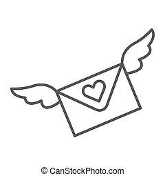 constitutions, lineære, tegn, konvolut, meddelelse, beklæde, baggrund., vektor, tynd, brev, mønster, grafik, ikon, hvid, email