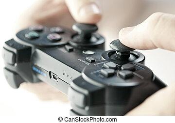 controller boldspil, hænder