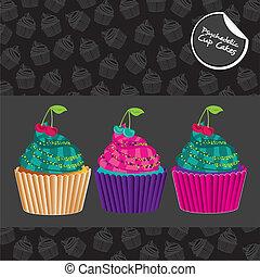 cupcakes, psykedeliske, sæt