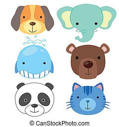 cute, anføreren, dyr, icon02