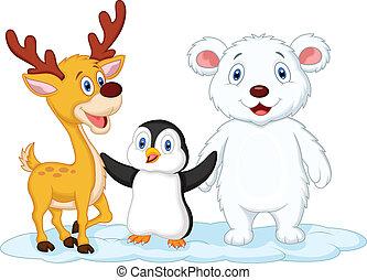 cute, cartoon, dyr