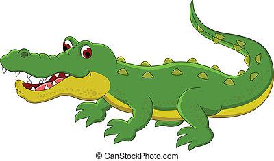 cute, cartoon, krokodille