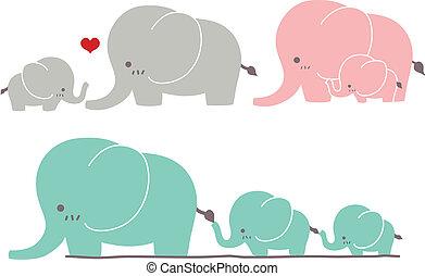 cute, elefant