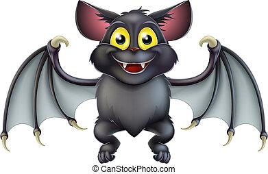 cute, flagermus, halloween, cartoon