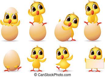 cute, liden, chicks
