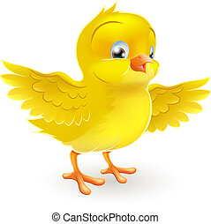 cute, liden, glade, gul chick