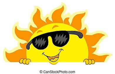 cute, lurking, sunglasses, sol