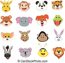 cute, samling, zeseed, illustration, dyr, cartoon
