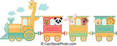 cute, tog, dyr