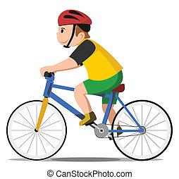 cykel, barnet