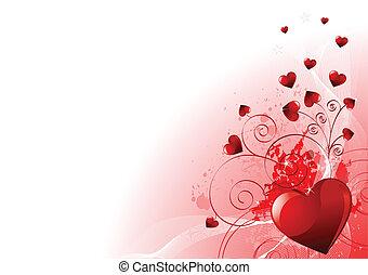 dag, valentines, baggrund