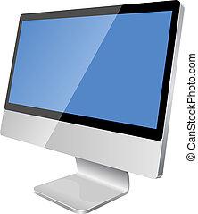 dataskærm, moderne, lcd