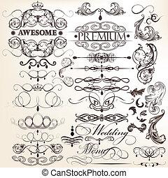 decorati, samling, calligraphic