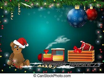 dekoration, år, nye, cards, konstruktion, produkter, gaver, ferie christmas, baggrund, 1