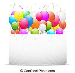 dekoration, balloner