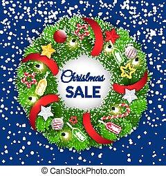 dekoration christmas, baubles, omsætning, krans