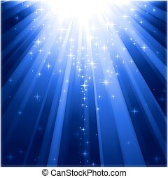 descending, lys, trylleri, stjerner, bjælker