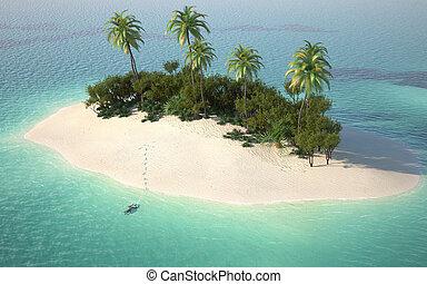 deserter ø, udsigter, antenne, caribbeanl