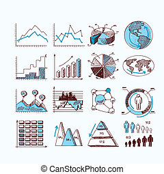 diagram, skitse, firma
