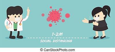 distancing, folk, risiko, holde inde, disease, infektion, afstand, sociale, covid-19, fortsætte