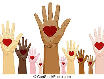 diversity, hænder