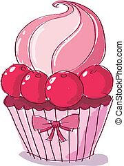 doodle, cupcake