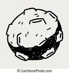 doodle, meteor