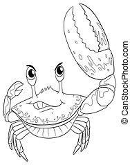 doodle, udkast, krabbe, dyr
