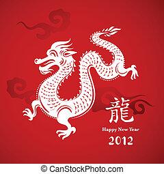 drage, nye, kinesisk, år