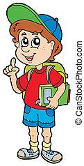 dreng, skole, tilkendegi