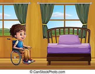 dreng, soveværelse