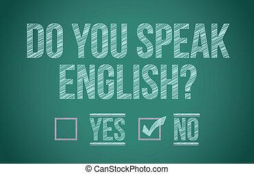 du, tal, engelsk