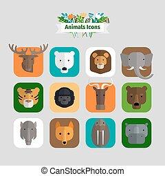 dyr, avatars