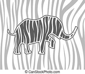 dyr, safari, elefant