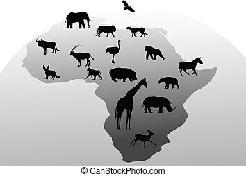 dyr, silhuet