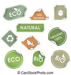 eco, etiketter, genbrug