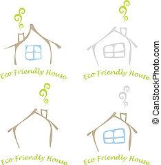 eco, hus, kammeratlig